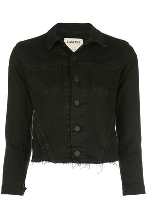 L'Agence Women Denim Jackets - Cropped jacket