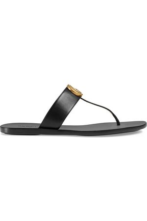Gucci Double G leather thong sandals