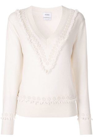 Barrie Romantic Timeless cashmere V neck pullover - Neutrals
