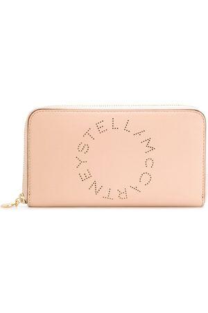 Stella McCartney Perforated logo wallet - Neutrals