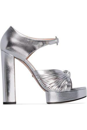Gucci Women Sandals - Crawford platform sandals - Metallic