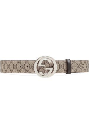 Gucci GG Supreme belt with G buckle - Neutrals