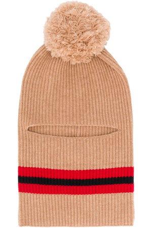 Cashmere In Love Wira pompom balaclava hat - Neutrals