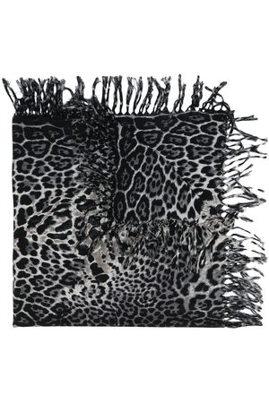 Saint Laurent Women Scarves - Leopard-print scarf
