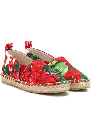 Dolce & Gabbana Girls Espadrilles - Floral espadrilles