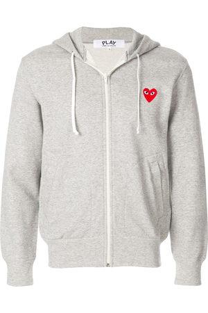 Comme des Garçons Heart patch hoodie - Grey
