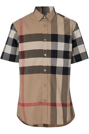 Burberry Classic check short sleeved shirt - Neutrals