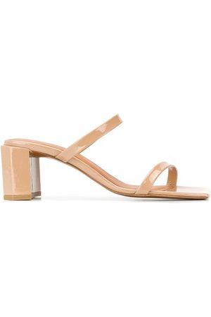 By Far Women Sandals - Square toe sandals - Neutrals