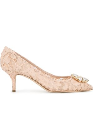 Dolce & Gabbana Pink Bellucci Crystal 70 Lace pumps - Neutrals