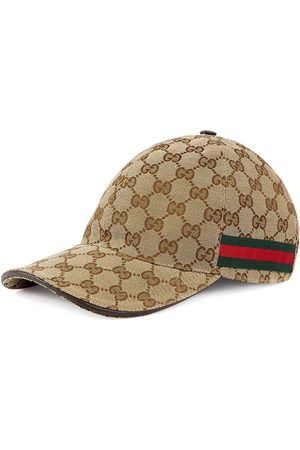 Gucci Original GG canvas baseball hat with Web - Neutrals