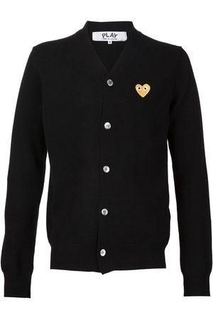 Comme des Garçons Men Cardigans - Embroidered heart cardigan
