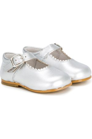 Andanines Scalloped detail ballerinas - Grey