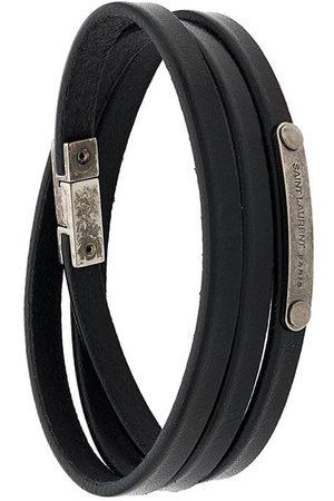 Saint Laurent ID narrow wraparound bracelet