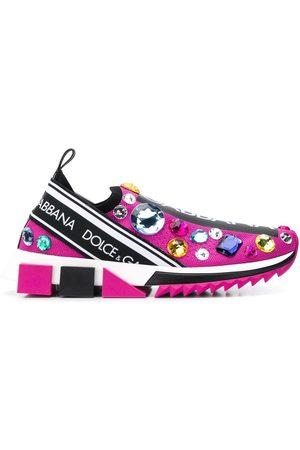 Dolce & Gabbana Women Sneakers - Crystal-embellished sneakers