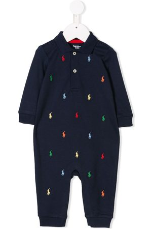 Ralph Lauren Baby Rompers - Logo embroidered rompers