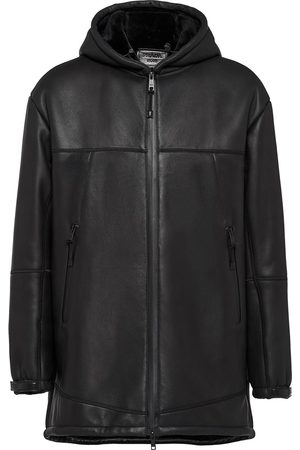 Prada Men Leather Jackets - Front-zip coat