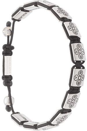 Nialaya Men Bracelets - Dorje beaded bracelet - Metallic