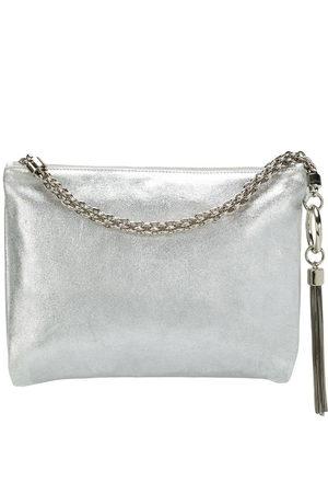 Jimmy choo Callie metallic tassel clutch - Grey