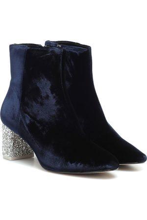 SOPHIA WEBSTER Toni embellished velvet ankle boot