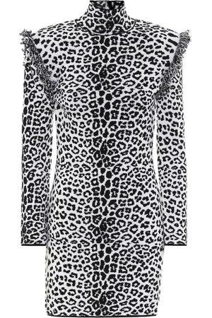 Dundas Leopard-print wool and cashmere dress