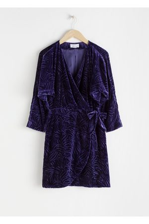 & OTHER STORIES Velvet Wrap Dress