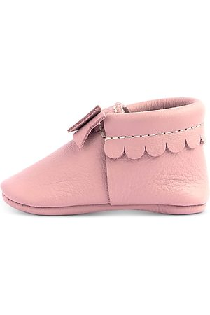 Freshly Picked Loafers - Girls' Leather Bow Moccasins - Baby