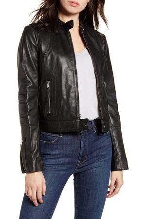 Andrew Marc Women's Leather Racer Jacket