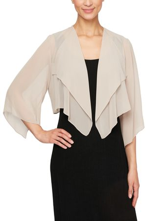 Alex Evenings Women's Hanky Bolero Cardigan