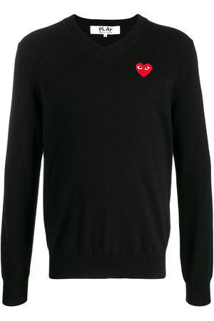 Comme des Garçons Logo embroidered jumper
