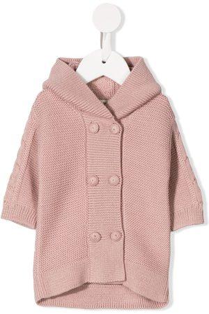 CASHMIRINO Hooded knit jacket