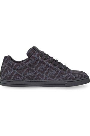 Fendi FF motif mesh sneakers - Grey