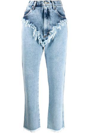 Natasha Zinko Women High Waisted - High rise raw edge jeans