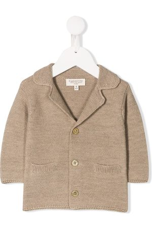 CASHMIRINO Spread collar jacket - NEUTRALS
