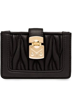 Miu Miu Matelassé lock card holder