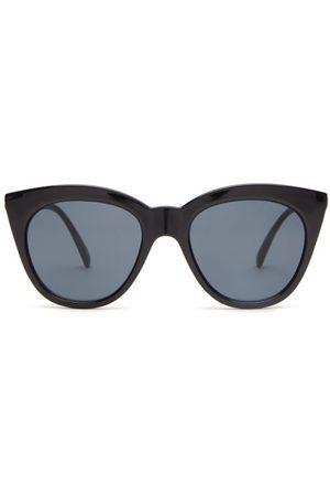 Le Specs Women Square - Halfmoon Cat-eye Acetate Sunglasses - Womens