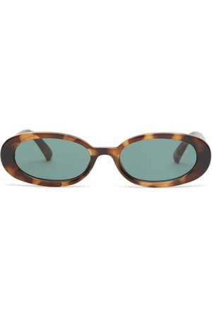 Le Specs Women Sunglasses - Outta Love Oval Tortoiseshell-acetate Sunglasses - Womens