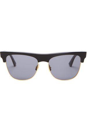 Bottega Veneta D Frame Acetate And Metal Sunglasses - Mens