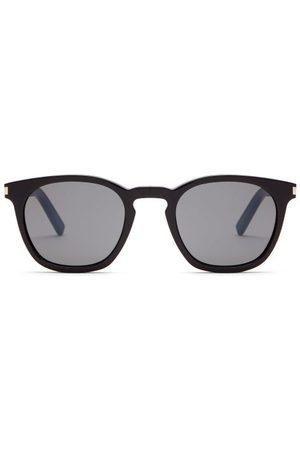 Saint Laurent Round Lens Acetate Sunglasses - Mens
