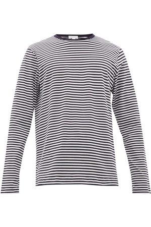 Sunspel Striped Cotton-jersey Long-sleeved T-shirt - Mens - Navy