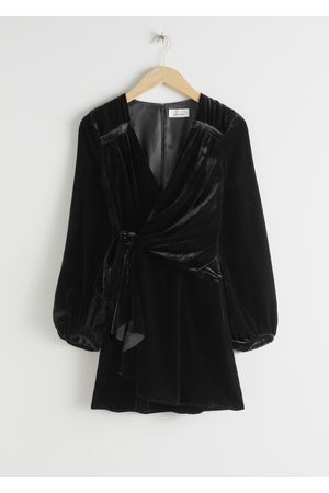 & OTHER STORIES Gathered Velvet Mini Dress