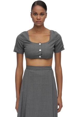 MARYAM NASSIR ZADEH Wool Blend Crop Top
