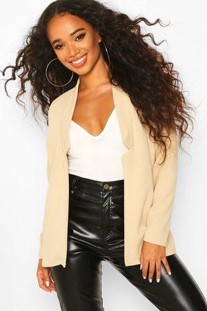 Boohoo Women Blazers - Womens Petite Notch Detail Oversized Blazer - - 2