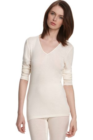Hanro Woolen Silk Basic Long Sleeve Shirt
