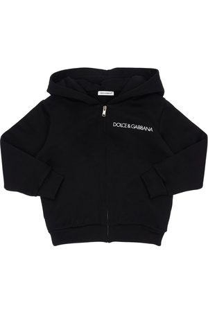 Dolce & Gabbana Logo Embroidered Cotton Sweatshirt