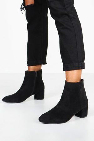 Boohoo Womens Basic Block Heel Shoe Boots - - 5