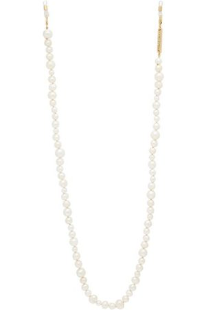 Frame Chain Pearly Queen Pearl And -plated Glasses Chain - Womens
