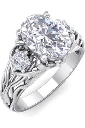 SuperJeweler 2 1/5 Carat Oval Shape Diamond Intricate Vine Engagement Ring in 14K (5.70 g) (