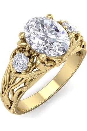 SuperJeweler 1 3/4 Carat Oval Shape Diamond Intricate Vine Engagement Ring in 14K (5.50 g) (