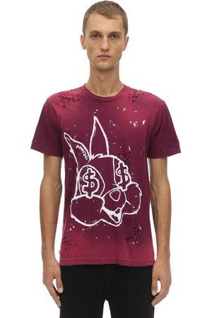 DOMREBEL Bunnies Destroyed Cotton Jersey T-shirt