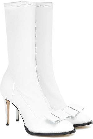 Victoria Beckham Onyx 90 leather ankle boots